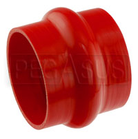Click for a larger picture of Red Silicone Hump Hose, 4 1/2 inch ID