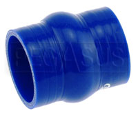 Click for a larger picture of Blue Silicone Hump Hose, 3 inch ID