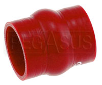 Click for a larger picture of Red Silicone Hump Hose, 2 1/2 inch ID