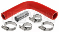 Click for a larger picture of Silicone Hose Kit, Ford F150 5.0 / EcoBoost Reservoir, Red