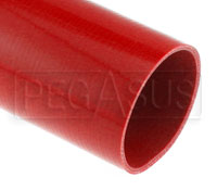 Click for a larger picture of Red Silicone Hose, Straight, 4 inch ID, 1 Meter Length