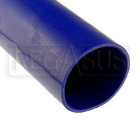 Click for a larger picture of Blue Silicone Hose, Straight, 4 1/2 inch ID, 1 Meter Length