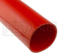 Click for a larger picture of Red Silicone Hose, Straight, 4 1/2 inch ID, 1 Meter Length