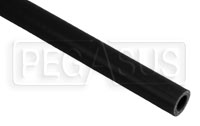 Click for a larger picture of Black Silicone Hose, Straight, 1/2 inch ID, 1 Meter Length
