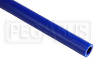 Click for a larger picture of Blue Silicone Hose, Straight, 5/8 inch ID, 1 Foot Length