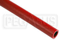 Click for a larger picture of Red Silicone Hose, Straight, 7/8 inch ID, 1 Meter Length