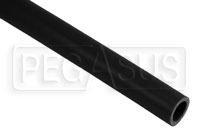Click for a larger picture of Black Silicone Hose, Straight, 7/8 inch ID, 1 Foot Length