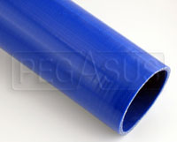 Click for a larger picture of Blue Silicone Hose, Straight, 3 inch ID, 1 Meter Length