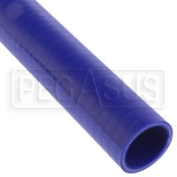 Click for a larger picture of Blue Silicone Hose, Straight, 1 1/2 inch ID, 1 Foot Length