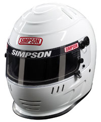 Click for a larger picture of Simpson Speedway Shark Racing Helmet, Snell 2015