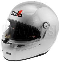 Click for a larger picture of Stilo ST5 FN Composite Helmet, Silver, FIA 8859, SA2015