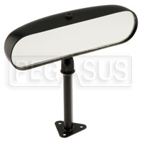 Click for a larger picture of SPA Design Center Mirror, Flat Lens -  Black Nylon