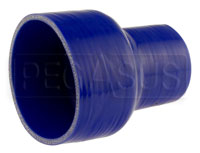 Click for a larger picture of Blue Silicone Hose, 4.00 x 2 1/2 inch ID Straight Reducer