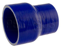 Click for a larger picture of Blue Silicone Hose, 4.00 x 3.00 inch ID Straight Reducer