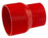 Click for a larger picture of Red Silicone Hose, 4.00 x 3.00 inch ID Straight Reducer