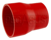 Click for a larger picture of Red Silicone Hose, 4.00 x 3 1/4 inch ID Straight Reducer