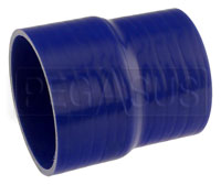 Click for a larger picture of Blue Silicone Hose, 4.00 x 3 1/2 inch ID Straight Reducer