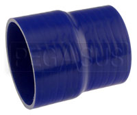 Click for a larger picture of Blue Silicone Hose, 4.00 x 3 3/4 inch ID Straight Reducer