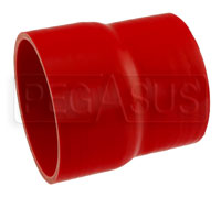 Click for a larger picture of Red Silicone Hose, 4 1/2 x 4.00 inch ID Straight Reducer