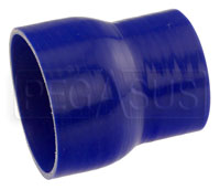 Click for a larger picture of Blue Silicone Hose, 4 1/2 x 3 1/2 inch ID Straight Reducer