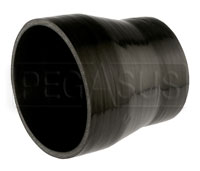 Click for a larger picture of Black Silicone Hose, 5.00 x 4.00 inch ID Straight Reducer