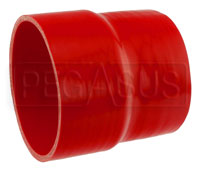 Click for a larger picture of Red Silicone Hose, 5.00 x 4 1/2 inch ID Straight Reducer