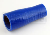 Click for a larger picture of Blue Silicone Hose, 1 3/8 x 1 inch Straight Reducer