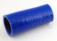 Click for a larger picture of Blue Silicone Hose, 1 5/8 x 1 3/8 inch Straight Reducer