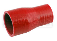 Click for a larger picture of Red Silicone Hose, 2 x 1 1/2 inch ID Straight Reducer