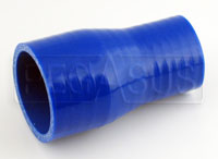 Click for a larger picture of Blue Silicone Hose, 2 x 1 1/2 inch Straight Reducer