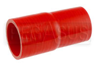 Click for a larger picture of Red Silicone Hose, 2 x 2 1/8 inch Straight Reducer