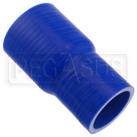 Click for a larger picture of Blue Silicone Hose, 2 x 2 1/2 inch ID Straight Reducer