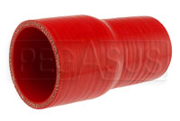 Click for a larger picture of Red Silicone Hose, 2 x 2 1/2 inch Straight Reducer