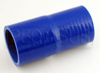 Click for a larger picture of Blue Silicone Hose, 2 x 2 1/8 inch Straight Reducer