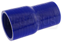 Click for a larger picture of Blue Silicone Hose, 2 3/8 x 2.00 inch ID Straight Reducer