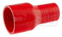Click for a larger picture of Red Silicone Hose, 2 1/2 x 1 1/2 inch ID Straight Reducer
