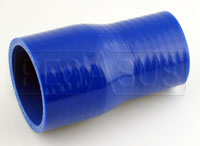Click for a larger picture of Blue Silicone Hose, 2 x 2 1/2 inch Straight Reducer