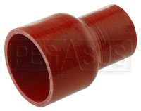 "Click for a larger picture of Red Silicone Hose, 3"" ID x 2"" ID Straight Reducer"