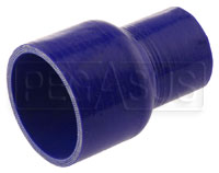 "Click for a larger picture of Blue Silicone Hose, 3"" x 2"" Straight Reducer"