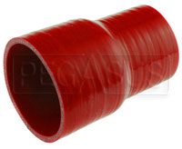 "Click for a larger picture of Red Silicone Hose, 3"" x 2 1/2"" Straight Reducer"