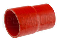 Click for a larger picture of Red Silicone Hose, 3.00 x 2 3/4 inch Straight Reducer