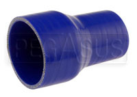 Click for a larger picture of Blue Silicone Hose, 3 1/4 x 2 1/4 inch ID Straight Reducer