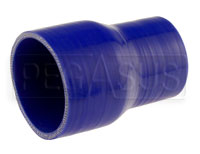 Click for a larger picture of Blue Silicone Hose, 3 1/4 x 2 1/2 inch ID Straight Reducer