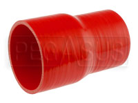 Click for a larger picture of Red Silicone Hose, 3 1/4 x 2 3/4 inch Straight Reducer
