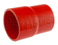 Click for a larger picture of Red Silicone Hose, 3 1/4 x 3.00 inch ID Straight Reducer