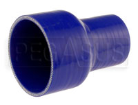 Click for a larger picture of Blue Silicone Hose, 3 1/2 x 2 1/4 inch ID Straight Reducer