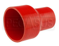Click for a larger picture of Red Silicone Hose, 3 1/2 x 2 1/4 inch ID Straight Reducer