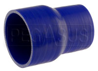 Click for a larger picture of Blue Silicone Hose, 3 1/2 x 2 3/4 inch ID Straight Reducer