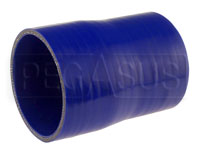 Click for a larger picture of Blue Silicone Hose, 3 1/2 x 3 1/4 inch ID Straight Reducer