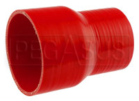Click for a larger picture of Blue Silicone Hose, 3 3/4 x 2 3/4 inch ID Straight Reducer